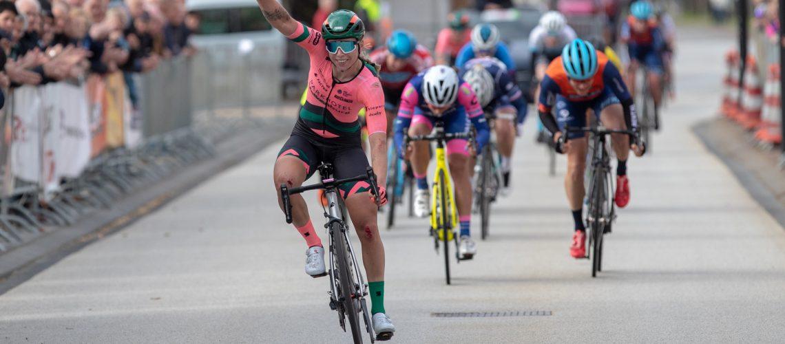 Het jonge aanstormende talent Lorena Wiebes is zaterdag favoriet nummer 1 in Zwolle. Foto: Sportfoto.nl